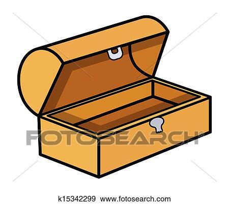 clip art of empty treasure box vector k15342299 search clipart rh fotosearch com treasure chest vector cartoon treasure chest vector silhouette