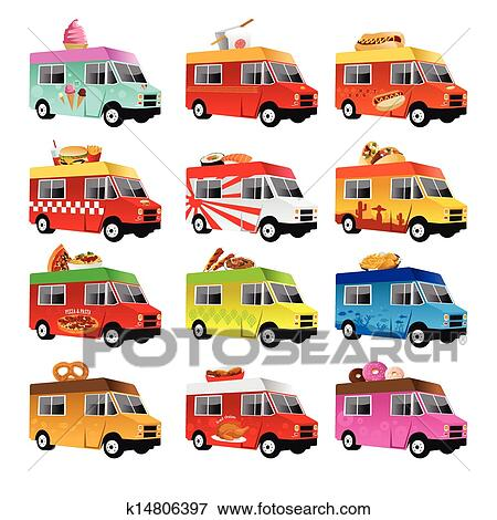Clip Art Of Food Truck K14806397