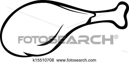 Clip Art Of Fried Chicken Drumstick K15510708