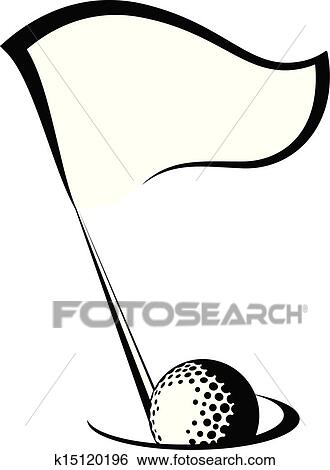 clip art of golf flag with ball in hole k15120196 search clipart rh fotosearch com golf ball and flag clipart free clipart golf flag