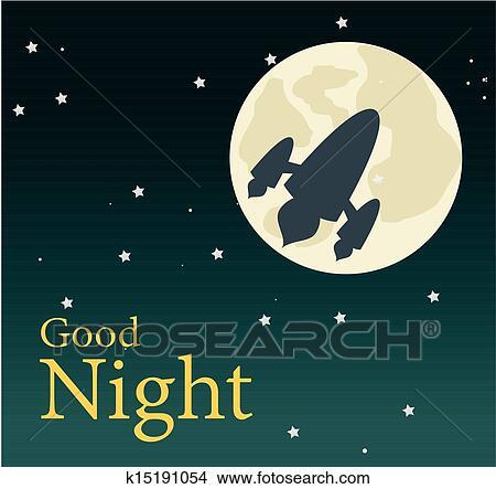 clipart of good night k15191054 - search clip art, illustration