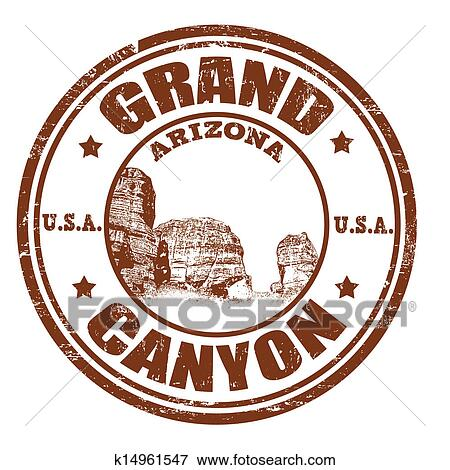 clip art of grand canyon stamp k14961547 search clipart rh fotosearch com Grand Canyon Graphics grand canyon clipart
