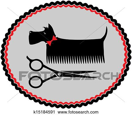 clipart of grooming scottish terrier k15184591 search clip art rh fotosearch com dog grooming logo clip art dog grooming logo clip art