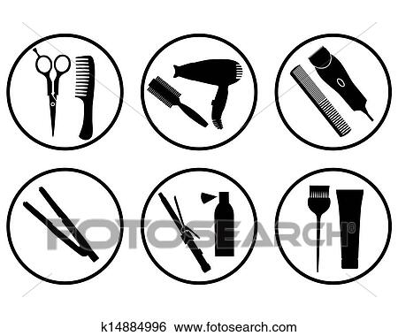 Clip Art Hair Salon Icon Fotosearch Search Clipart Ilration Posters Drawings