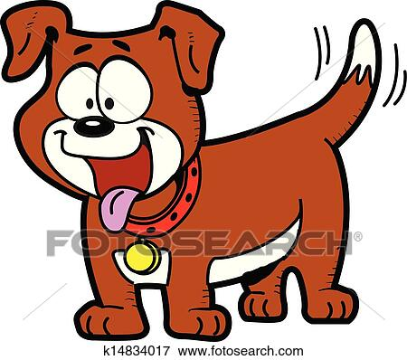 clip art of happy dog k14834017 search clipart illustration rh fotosearch com happy birthday dog clipart free happy new year dog clipart