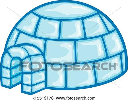 clip art of illustration of a igloo k15513178 search clipart rh fotosearch com igloo clip art free igloo clipart black and white