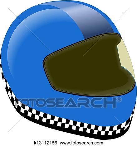 Clip Art of CRASH HELMETS k13112156 - Search Clipart ...