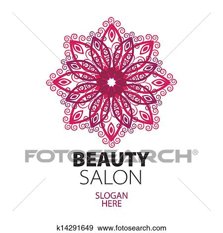 Clip art of abstract logo lace for beauty salon k14291649 for Abstract salon of the arts