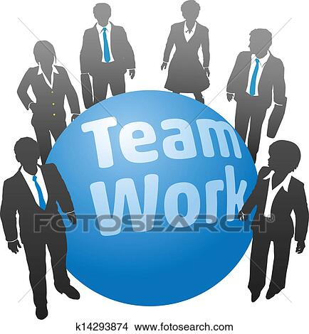 Busy People Clipart Clipart Business People Team