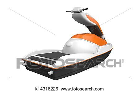 Banque d 39 illustrations jet ski k14316226 recherche de clip arts de dessins d 39 illustrations - Jet ski dessin ...