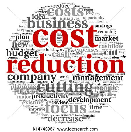 Stock Illustration of Costs reduction concept k14743967 ...