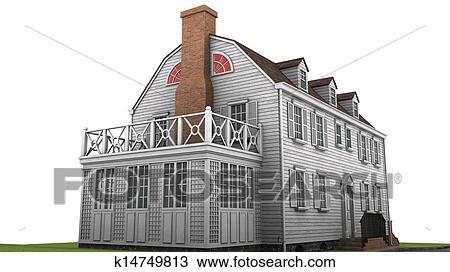 手绘图 房子