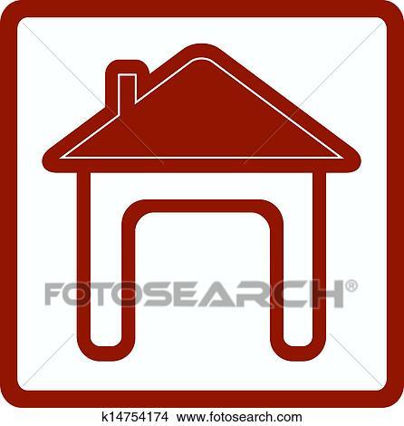 Dessins ic ne maison porte ouverte k14754174 for Porte ouverte dessin