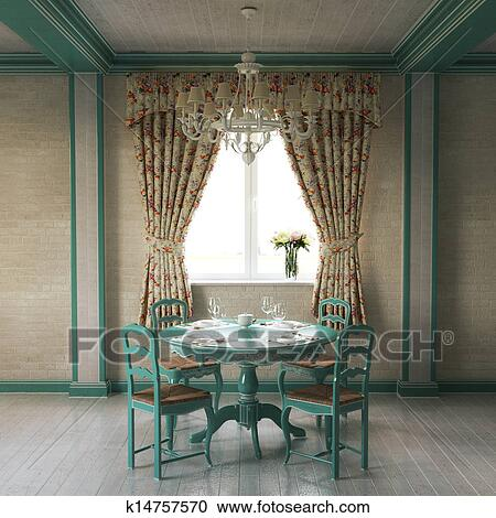 Stock Illustrations Of Beautiful Provence Home Interior