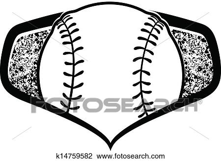Clipart of Baseball and Softball Shield k14759582 - Search Clip ...