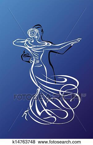 Clip Art of Dance Night k14763748 - Search Clipart ...