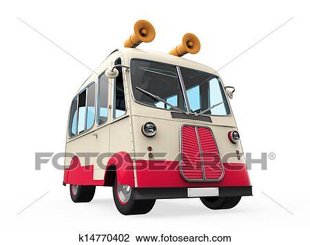 剪贴画 冰淇淋, 卡车
