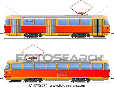 Dessins tramway k14772574 recherche de clip arts d 39 illustrations et d 39 images vectoris es au - Dessin tramway ...