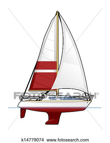 手绘图 - 游艇
