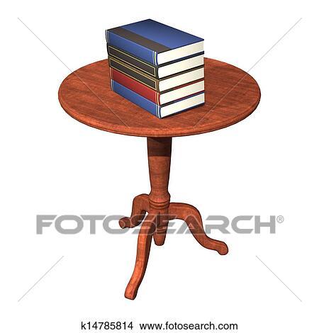 手绘图 - 书, 在桌子上图片