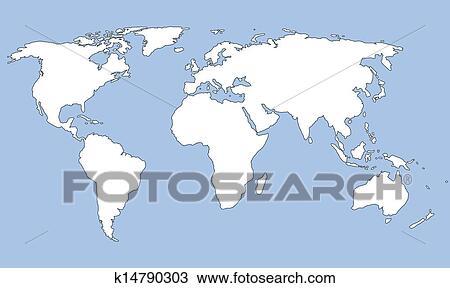 剪贴画 - 轮廓地图
