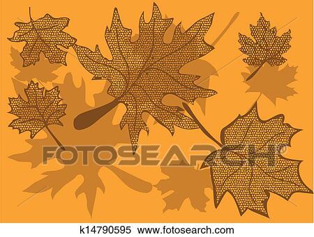 剪贴画 - 枫树树叶