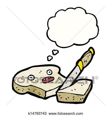手撕面包卡通画