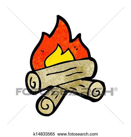 Burning Wood Clipart Clipart of cartoon bur...