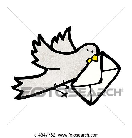 Clipart pigeon voyageur dessin anim k14847762 - Voyageur dessin ...