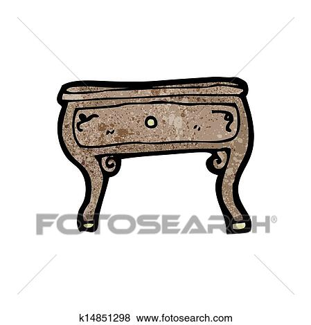 clipart dessin anim table basse k14851298 recherchez des cliparts des illustrations des. Black Bedroom Furniture Sets. Home Design Ideas