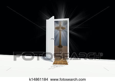 Dessins porte ouverte traverser sur a colline for Porte ouverte dessin