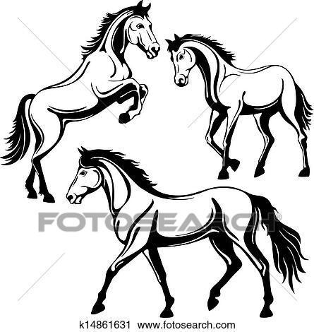 Clipart cheval k14861631 recherchez des clip arts des illustrations des dessins et des - Clipart cheval ...