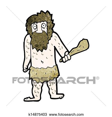 man cave murals clipart of cartoon cave man k14875403 search clip art
