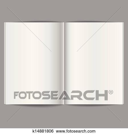 Clip Art of Blank Open Magazine k14881806 - Search Clipart ...