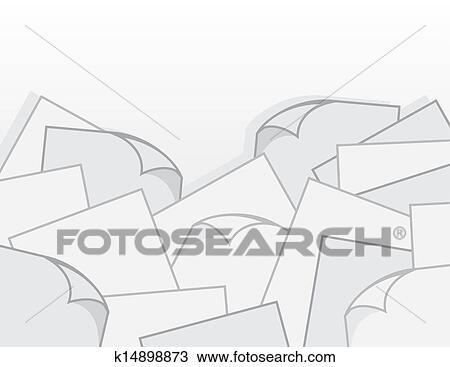 Clipart of Paper Pile Curls k14898873 - Search Clip Art ...
