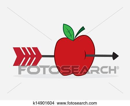 手绘图 - 苹果, 箭