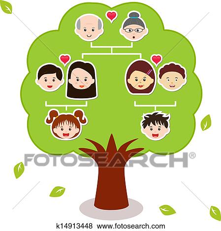 clip art of vector icons family tree k14913448 search grandparent clipart photos free grandparents clip art images