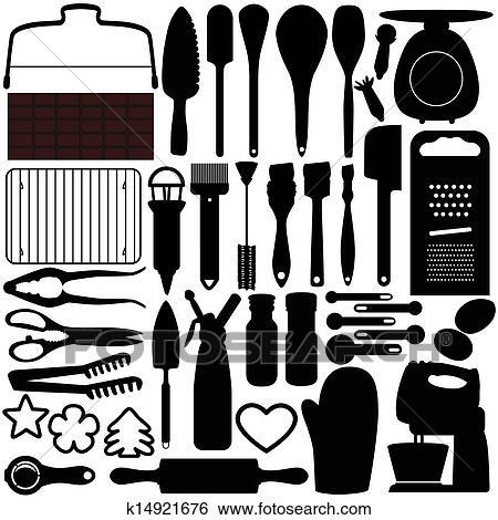 Baking Equipment Drawing Cooking Baking Tools