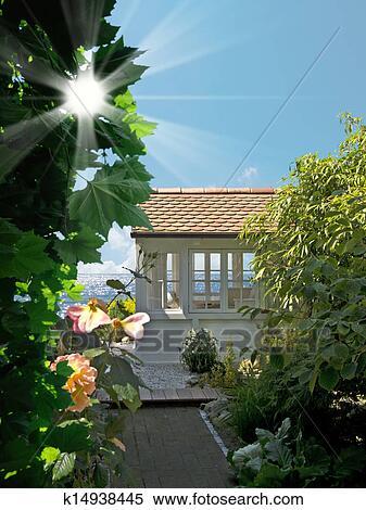 Banque d 39 image romantique jardin k14938445 recherchez for Jardin romantique francais