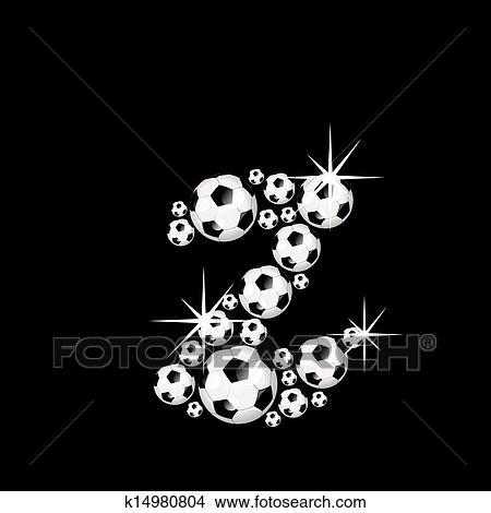 手绘图 - 足球, 足球, 字母表信件, z图片