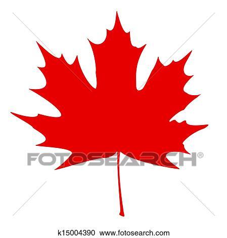 Clipart foglia acero rosso k15004390 cerca clipart - Foglia canadese contorno foglia canadese ...