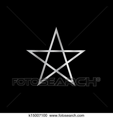 Clipart of Pentagram- Religious symbol satan k15007100 - Search ...
