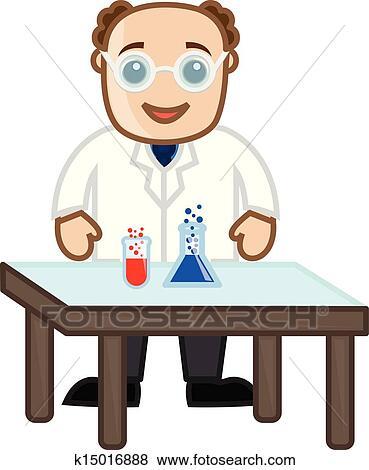 科学家卡通老头