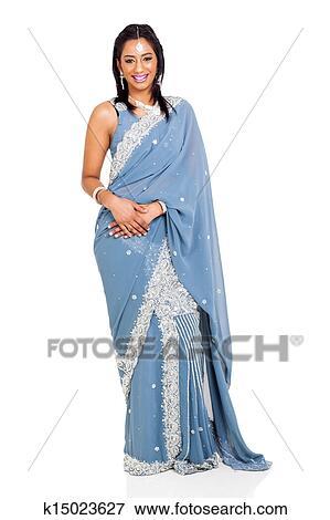 image belle femme porter traditionnel costume indien. Black Bedroom Furniture Sets. Home Design Ideas