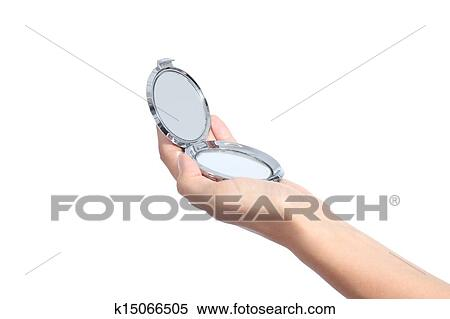 Stock Image Of Woman Hand Holding A Hand Mirror K15066505