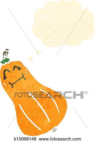 Clip Art of retro cartoon squash k15068148 - Search Clipart ...