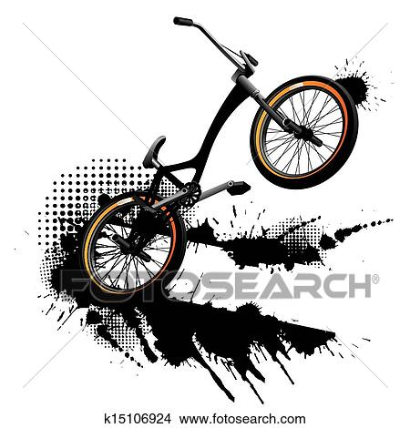 手绘图 - bmx 自行车,