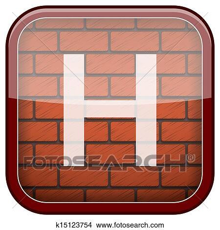 그림 - 벽돌, 벽, 아이콘 k15123754 - 클립 아트 일러스트레이션 ...