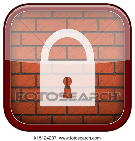 스톡 일러스트 - 벽돌, 벽, 아이콘 k15124237 - EPS 클립아트, 그림 ...