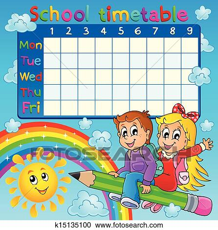 Clipart of School timetable design k17234763 Search Clip Art – School Time Table Designs